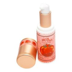 The Skin Food Tomato Whitening Serum (Whitening Skin Care). This skin-brightening essence containing arbutin and tomato extract rich in lycopene, vitamins, and minerals makes dull skin clear and blemish-free and improves skin tone, without stickiness. Visit www.koreanlolyshop.com