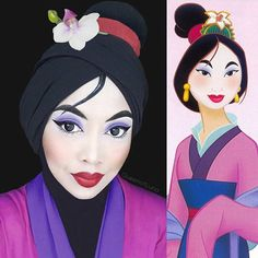#CarnavalDisney Mulan ficou top essa makeup hein! 👍🏼✨