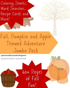 FREE Fall, Pumpkin and Apple Themed Adventure Pack -