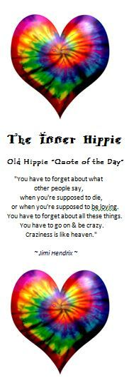 """Old Hippie """"Quote of the Day""""...links to a shopping site...but I like the quote."""