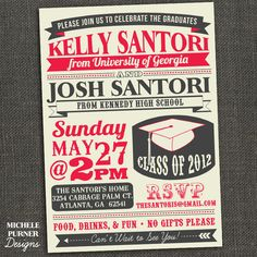 High school college graduation party invitation announcement high school college graduation party invitation announcement design ideas cards pinterest college graduation parties college graduation and filmwisefo