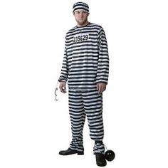 This plus size Men's Prisoner Costume is a great adult prison costume for Halloween. Add this plus size mens costume to your cops and robbers group this Halloween. Group Costumes, Cool Costumes, Halloween Costumes, Halloween Candy, Costume Ideas, Female Costumes, Animal Costumes, Costume Works, Costume Shop