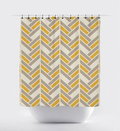 cream colored shower curtain. Mustard and tan shower curtain  modern geometric mustard home decor high quality fabric Light blue cream