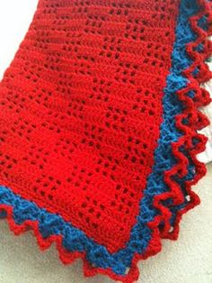 Trellis stitch crochet blanket -- used two shades of pink. Very easy, quick pattern with pretty results.