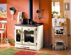 Wood Cooking Stove Suprema Cream by La Nordica. Steel, cast iron.