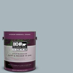 BEHR Premium Plus Ultra 1-gal. #N470-3 Half Sea Fog Eggshell Enamel Interior Paint
