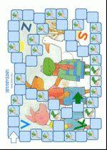 Letterspel - Kikker in de kou – spelbord