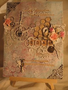 Shabby Chic Mixed Media Canvas