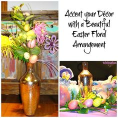 Accent your decor with a beautiful Easter floral arrangement!  Perfect anywhere and so festive!