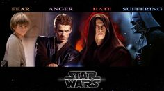 Films Star Wars  Star Guerres Darth Vader Anakin Timeline Four Young Fear Anger Hate Suffering Espace Fond d'écran