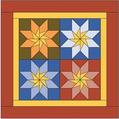 5 Madison Star by Becky Brown  The patterns were free online for two years but now I am offering them for sale in two formats at m...