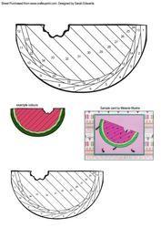View Slice of Watermelon Iris Folding Pattern Details