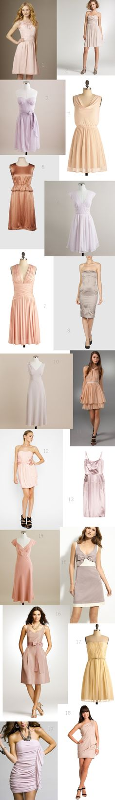 bridesmaid or wedding dresses