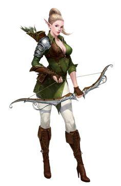 ArtStation - elf archer, yongbin lee / dylan <<< she's beautiful Fantasy Warrior, Fantasy Rpg, Medieval Fantasy, Fantasy Girl, Dnd Characters, Fantasy Characters, Female Characters, Weiblicher Elf, Kawaii Charms