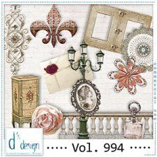 Vol. 994 - Vintage Mix  by Doudou's Design  cudigitals.com cu commercial scrap scrapbook digital graphics#digitalscrapbooking #photoshop #digiscrap