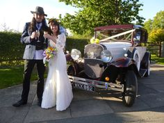 Samantha and Ian happy to be married and taking a small toast prior to a lovely slow drive from Sutton Cheney to Hinckley for their reception. Wedding Car Hire, Welcome To Our Wedding, West Midlands, Antique Cars, Toast, Reception, Take That, Vintage Fashion, Classic