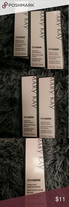 Mary Kay Makeup 2 Luminous-wear Liquid Foundation, 1 Matte-wear Liquid Foundation Makeup Foundation