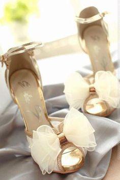Lace fish head sandals wedding shoes