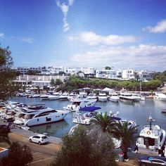 Nice view in cala d'or #mallorca. this is the harbour with biiig ships... :-)