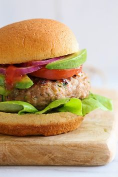 Add grated zucchini to your ground turkey for the juiciest turkey burger!!
