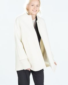 ZARA - TRF - KNIT CAPE WITH SLEEVES