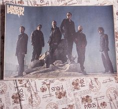 Linkin Park Hybrid Theory England retro brown paper poster