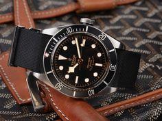 The Heritage Black Bay Black has never looked more handsome. Tudor Heritage Black Bay, Tudor Black Bay, Antique Watches, Vintage Watches, Tudor Bronze, Tudor Submariner, Rolex Tudor, Watch Deals, Watch Photo