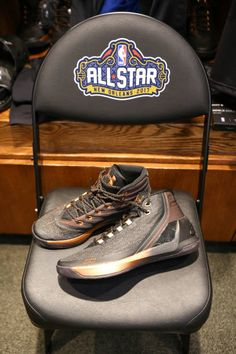 f1732f13ae9c31 Stephen Curry of the Western Conference AllStars jersey and sneakers during  the NBA AllStar Game as