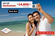 4N/5D Andaman Holiday Tour at just ₹14,600/- - Hotel, Food, Cab, Sightseeing  Inclusions: 3 Nights stay in ac room at port blair + 01 Night stay in ac room at Havelock. Port blairAirport pick and drop. 04 Breakfast at hotel. All entry permits/ tickets, ferry tickets and forest area permits wherever applicable. Return Ferry Ticket for Havelock All sightseeing and transfer by pvt Vehicle.  Know more detail call us : 9911-05-06-07/ visit : http://www.indiafly.com/