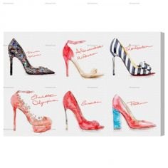 Shop for Oliver Gal 'Spring 2014 Heels' Fashion and Glam Wall Art Canvas Print - Red, Black. Get free delivery On EVERYTHING* Overstock - Your Online Art Gallery Store! Fashion Wall Art, Fashion Prints, Men's Fashion, Oliver Gal Art, Canvas Wall Art, Canvas Prints, Boutique, Spring 2014, Well Dressed