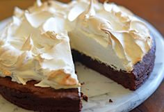 Flourless Chocolate Cake with Meringue Topping