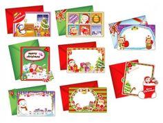 8 lovely christmas card vector