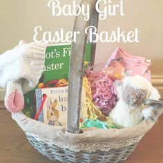 Babys first easter gift ideas easter baby girls first easter basket inspiration for an alternative chocolate gift negle Images