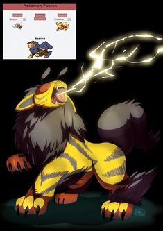 """Pokemon Fusion """"all the cool kids are doin' it"""" by =TovioRogers on deviantART"""