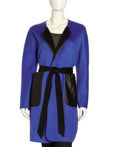 Two-Tone Double-Face Coat by Lafayette 148 New York at Neiman Marcus Last Call.