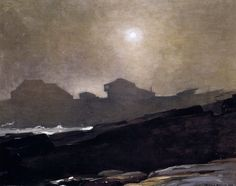 Winslow Homer . The Artist's Studio in the Afternoon Fog