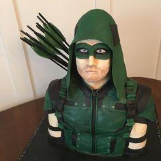 Green Arrow Birthday Cake  - Cake by Heather