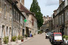 Main St Vezelay , on the way to the Basilique St- Madeleine. Historic pilgrimage site