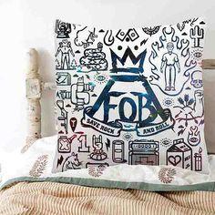 Fall Out Boy quotes art Pillow case 16x16 by UripnowtrushPillowku