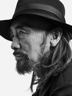 Yohji Yamamoto (1943) - award winning and influential Japanese fashion designer. Photo © Neil Bedford