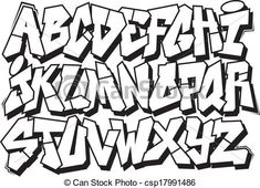 Graffiti font Vector Clipart Illustrations. 3,963 Graffiti font ...