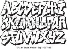 Graffiti font Vector Clipart Illustrations. 3,963 Graffiti font ...