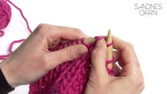Instruksjonsvideo fra Sandnes Garn som lærer deg å strikke halvpatent