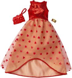 Barbie Complete Look Fashion, Red Gown Barbie Style, Barbie Doll Set, Barbie Sets, Doll Clothes Barbie, Mattel Barbie, Barbie Outfits, Ken Doll, Barbie Fashionista, Accessoires Barbie