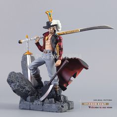 One Piece Figurine - Hawkeye Dracule Mihawk Action Figure