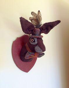 Faux+Taxidermy+Hare+head+wall+hanging.+by+DottyLottieDesigns,+£55.00