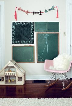 I Love the chalkboard collection & the cute little arrow banner!