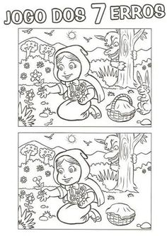 Find The Difference Pictures, Cutting Activities For Kids, Hidden Pictures Printables, Fun Math Worksheets, Red Riding Hood Party, Math Humor, Paper Crafts For Kids, 2nd Grade Math, Cat Party