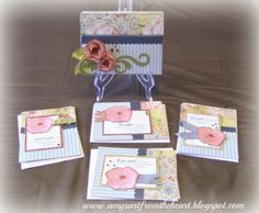 gift set of cards by Amy Moore using CTMH Ariana paper