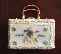 Vintage LUCTE Atlas Handbag Purse Wicker by GlassLoversGallery